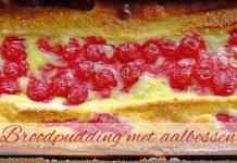 Broodpudding met aalbessen