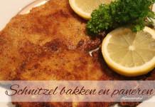 schnitzels bakken