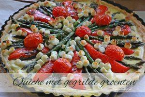 quiche met gegrilde groenten